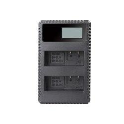 EN-EL14Rapid carregador duplo do lcd para nk EN-EL14 nk EN-EL14a e nk coolpix p7800 p7700 p7100 p7000 nk df nk d5600