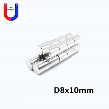 200pcs 8x10 mm Mini Small N35 Magnet 8x10 Neodymium Magnet Permanent NdFeB Super Strong Powerful Magn 8*10 mm