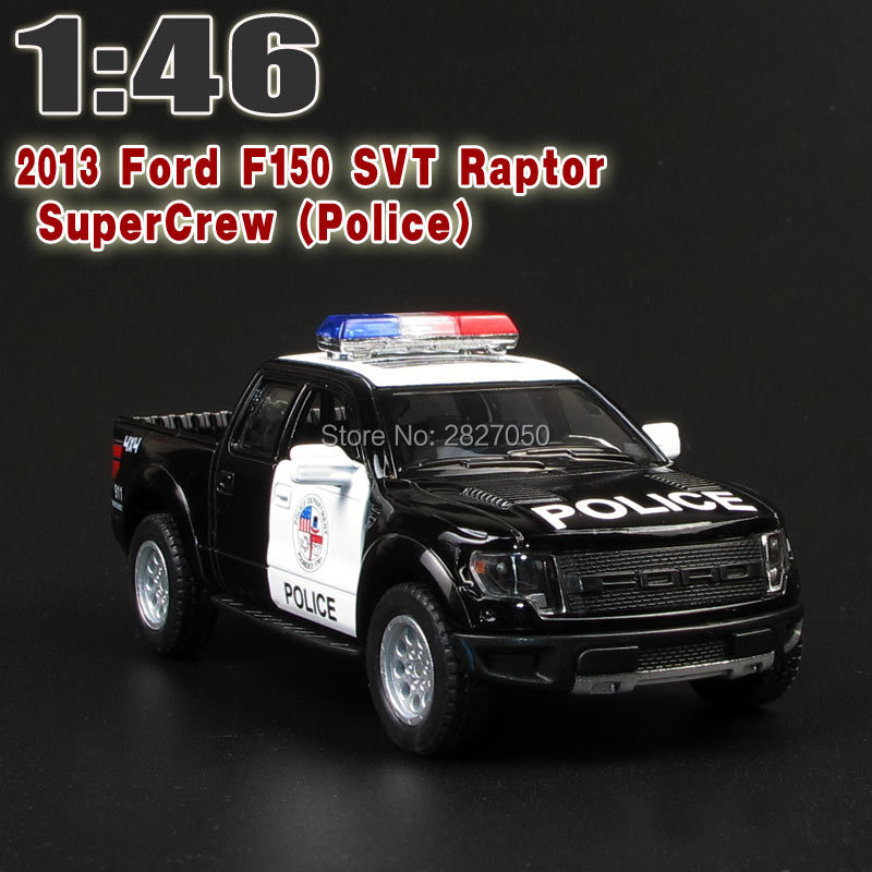 5 DieCast Metal 2013 Ford F150 SVT Raptor SuperCrew Police Children Education Alloy Model Toy Cars Gift For Kids