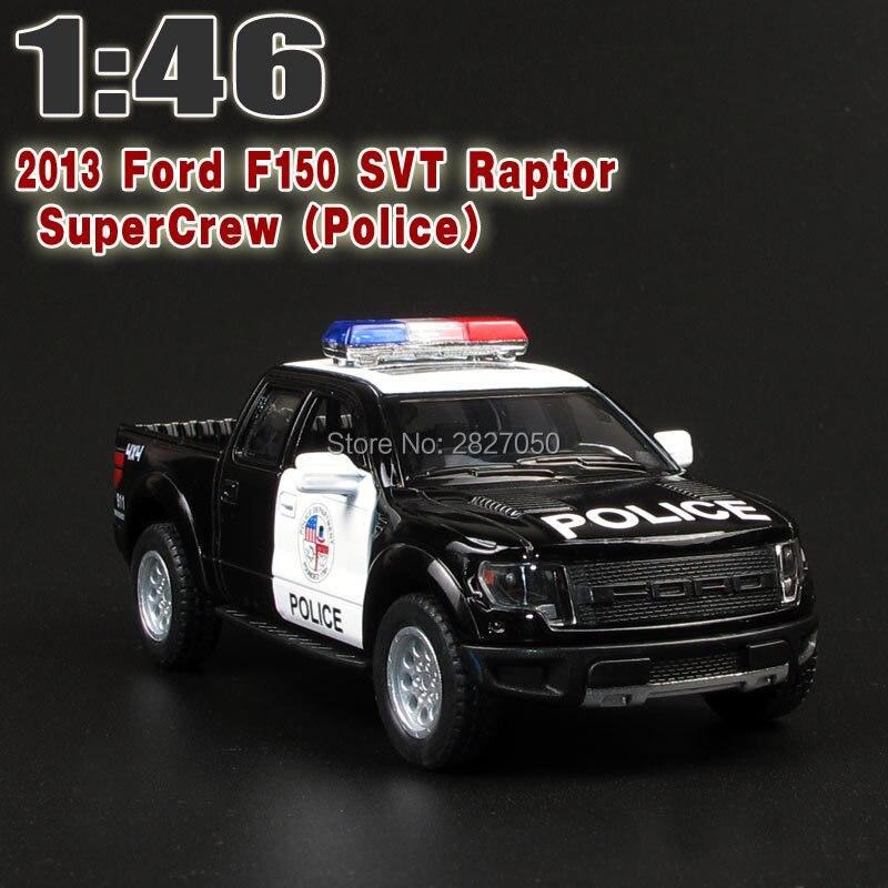 5 Inch DieCast Metal 2013 F150 SVT Raptor SuperCrew Police Children Education Alloy Model Toy Cars Gift For Kids