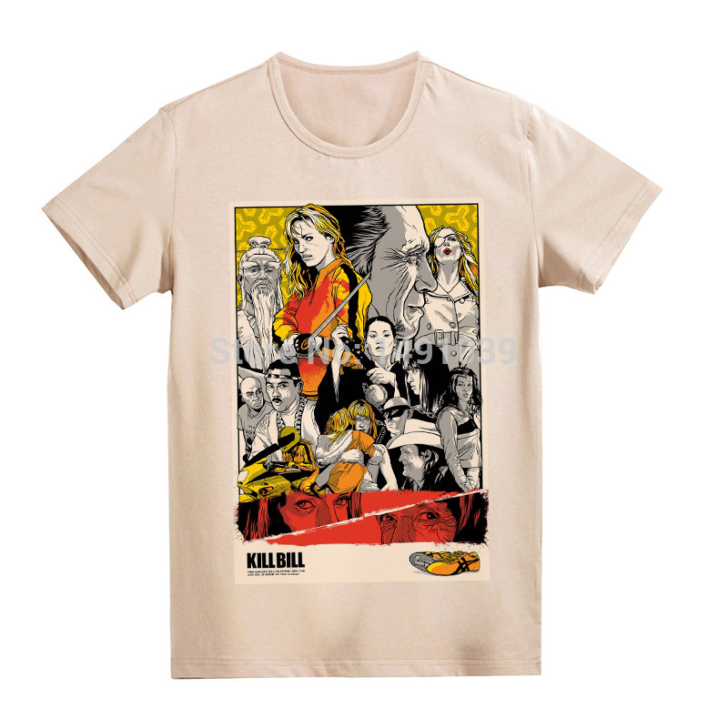 Quentin Tarantino Kill Bill Fight Club Movie poster vintage fashion t shirt