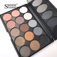 SHIDISHANGPIN 15 Earth Colors Matte Eyeshadow Palette Pigments Makeup Shimmer Eye Shadow Powder Contour Cosmetic Set P02