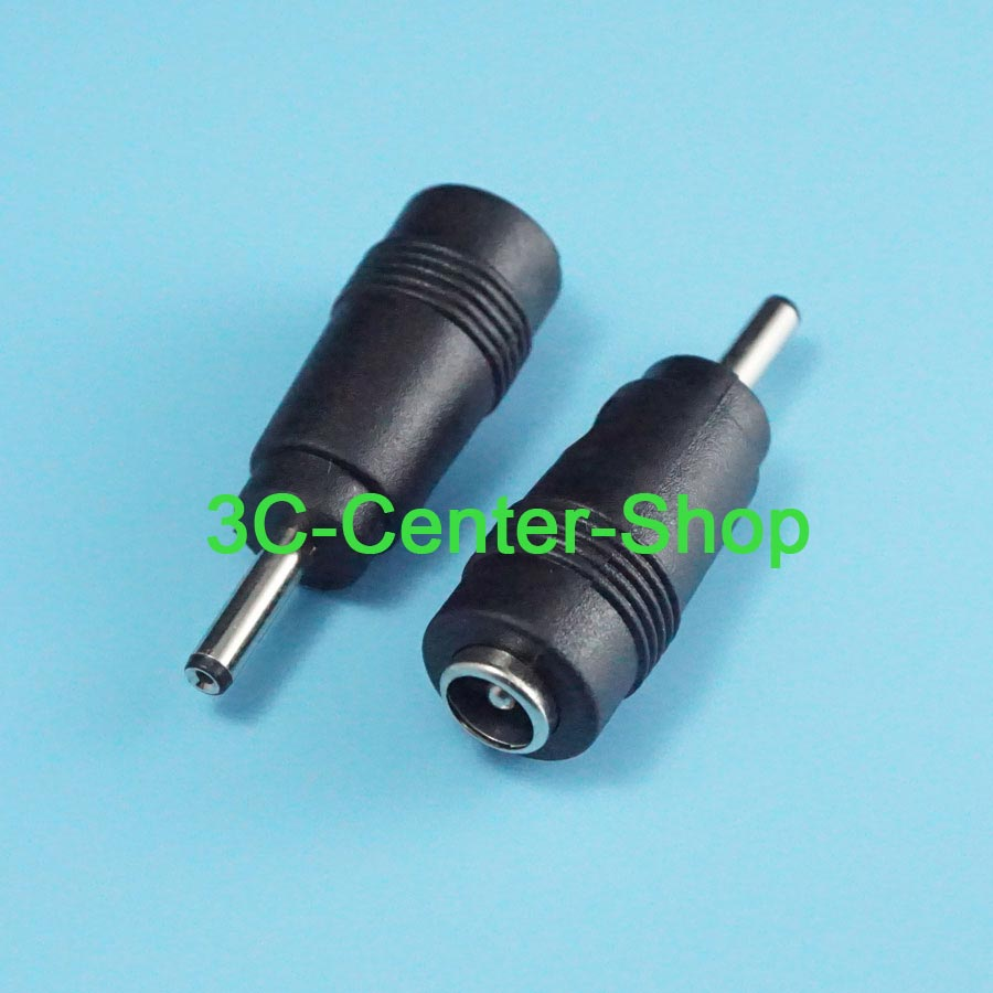 1x Black 3.5x 1.1mm DC Power Male Plug To Micro 5 Pin USB Male Adapter Connector