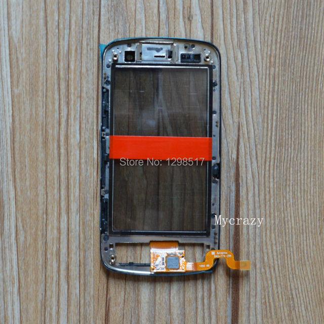 Новый Оригинальный Черный Сенсорный ЖК-Экран Digitizer Ремонт для Nokia C6-01 Рамка Замена Свободной перевозкой груза; 100% Оригинал