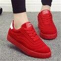 Nuevo de Las Mujeres de Tenis Femenino de Gamuza de Alta Plataforma Zapatos Casuales de La Moda Aumento de la Altura botas Chaussure Femme Nueva Zapatos Mujer