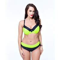 High Quality Plus Size Bikini Set Sexy Tankini Set Solid Color Swimsuit Women Swimwear Biquini Large
