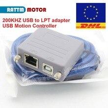 새로운 200KHZ RTM200 USB 변환기 모션 컨트롤러 USB to LPT 어댑터 Mach3 용 USB CNC 컨트롤러