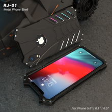 Bat Cell Phone Cases For Apple iPhone X XS Max XR Hard Case Metal Cover Aluminum Alloy Shockproof+Heat Dissipation+Straps+Holder