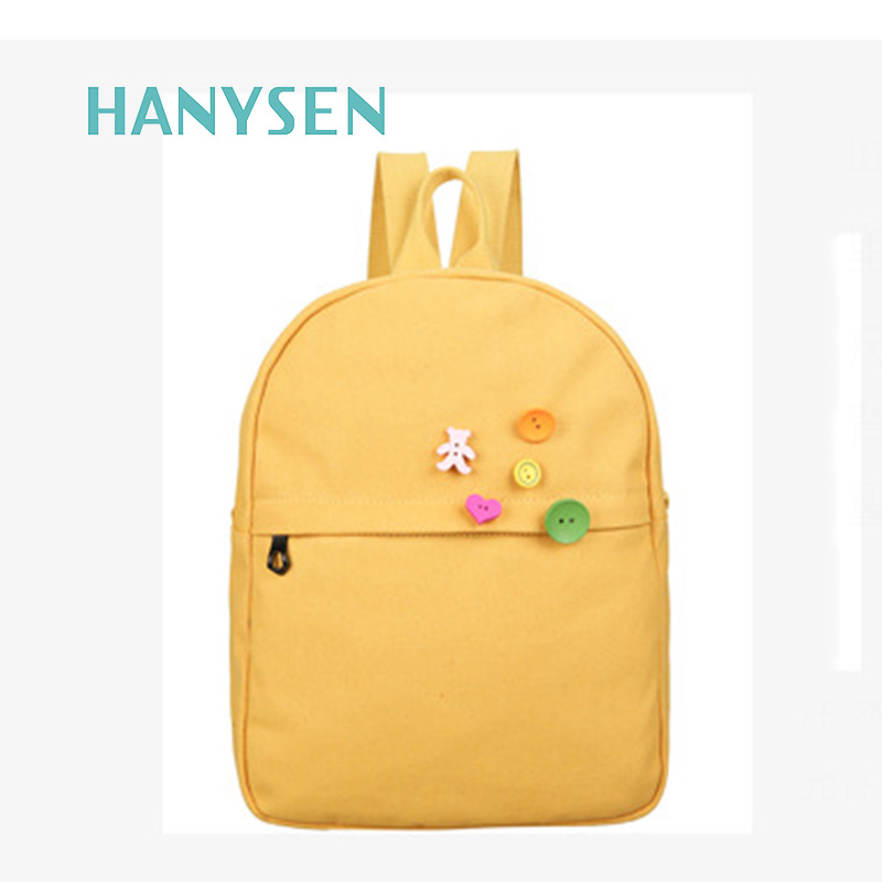 2017 New Fashion Simple Canvas Ladies Backpack Preppy Style School Bags For Teenage Girls Hot Sale