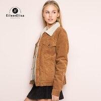 Eileen Elisa Stylish Casual Jacket Women Winter Coat 2017 Women Warm Thick Turn Down Collar Jacket