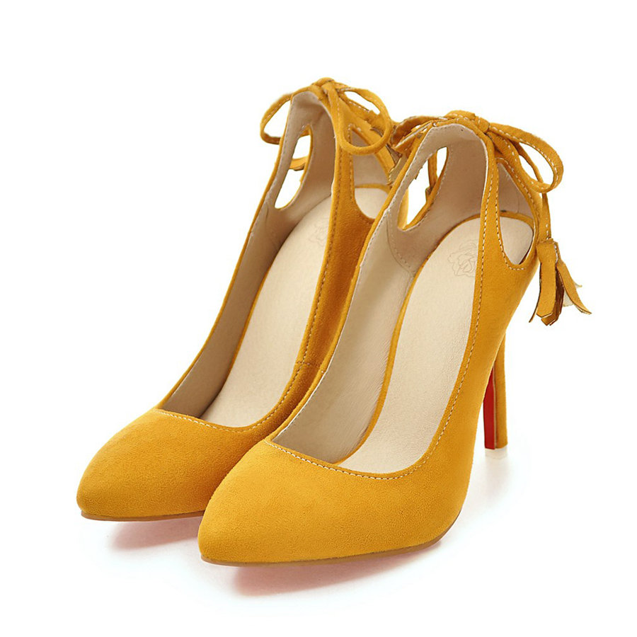 Big Plus Size Summer Women Pumps Thin High Heels Stiletto Ponited Toe Tassel Faux Suede Flock Office Party Wedding Ladies Shoes high efficient filter kits formaldehyde filter activated carbon filter hepa filter for ac4002 ac4004 ac4012 air purifier