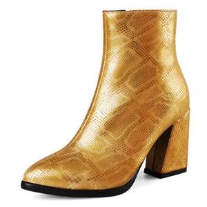 Image 2 - FEDONAS موضة جديدة مثير الحيوان يطبع بولي Leather جلد النساء حذاء من الجلد 2021 الخريف الشتاء جديد أشار تو عالية الكعب تشيلسي الأحذية