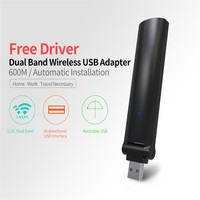 Centechia New High Speed 600Mbps Mini USB Wireless Wifi Adapter Wireless LAN Network Card 802 11n