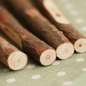 Image 3 - 40 قطعة/الوحدة Vintage اليدوية خشبية البيئية قلم حبر جاف غصين الكرة القلم الزفاف القلم اللوازم المكتبية المدرسية