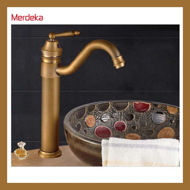 High Body Round Hot Cold Water Basin Faucet Vanity Sink Mixer ...