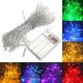 4 M 40 LED de Batería Operado LED Intermitente Cadena de Luces de Navidad Garland Partido Decoración de La Boda de Navidad Luces de colores En venta