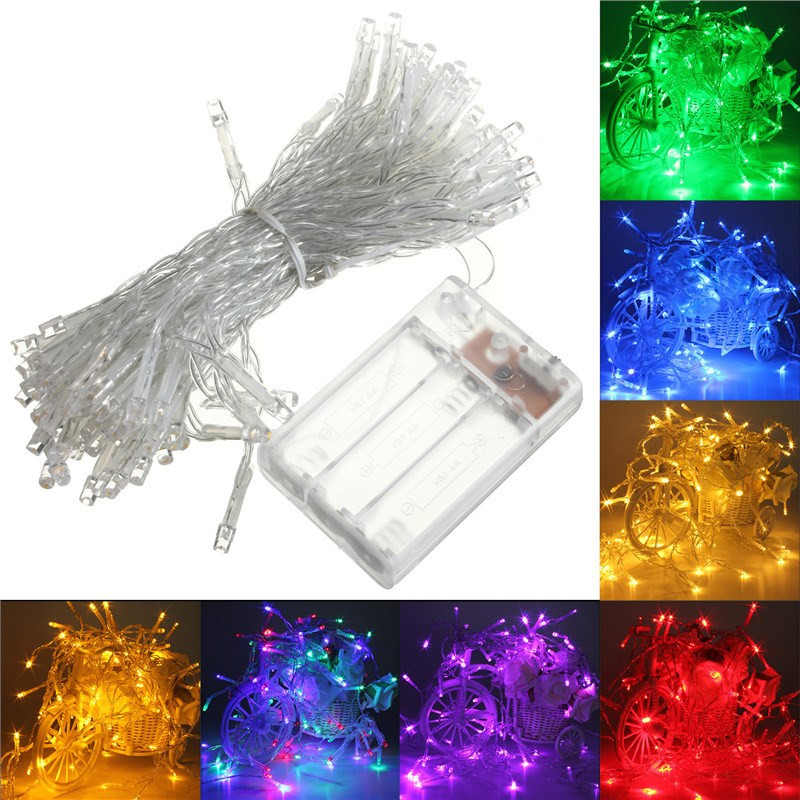 4m 40 led battery operated led string lights for xmas garland party wedding decoration christmas. Black Bedroom Furniture Sets. Home Design Ideas