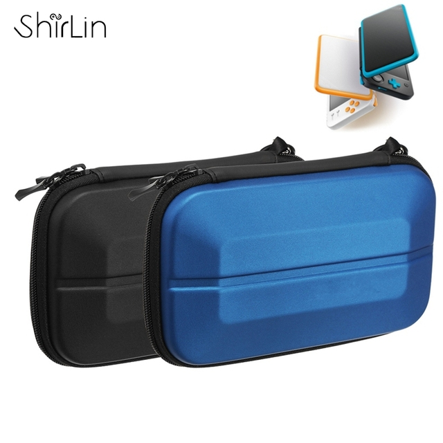 For New 2DS LL Hard Cover Stroage Bag Handheld Gaming Console Storage Zip  Case For Accessories
