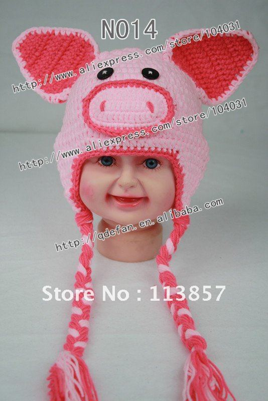 Wholesale 100 Cotton Crochet Pig Hat Pattern In Pink Cute Animal