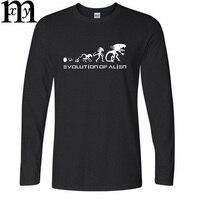 Nouveau Haute Qualité Alien Evolution Conception T-shirt Hommes Drôle Col Rond hiver à Manches longues T-shirt De Mode T-shirt