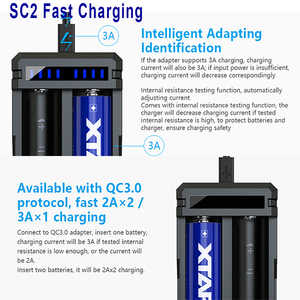 Image 4 - XTAR 18650 Battery Charger / VC2 VC4 LCD USB Charger / QC3.0 Fast Charging VC4S SC2 / VC2S PB2S Power Bank 18650 Battery Charger