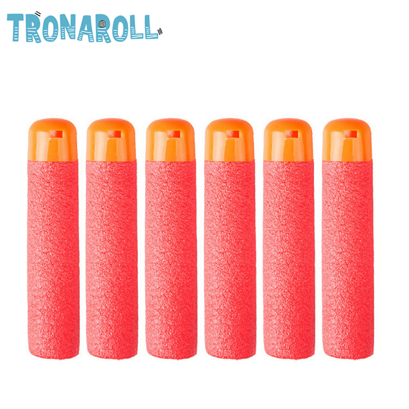 EVA 30Pcs 9.5cm Red Sniper Rifle Darts Bullets For Nerf Mega Kids Toy Gun Foam Refill Darts Big Hole Head Bullets Gift Pistol