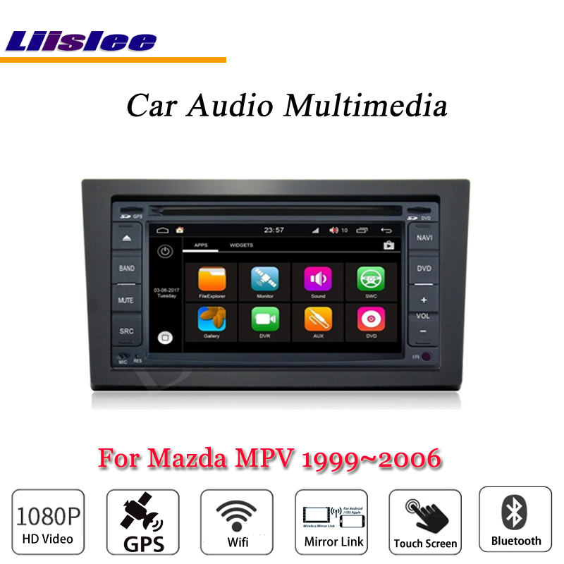 Liislee Car Android Multimedia For Mazda MPV 1996~2006 Radio CD DVD Player GPS Navi Map Navigation BT Audio Video Stereo System