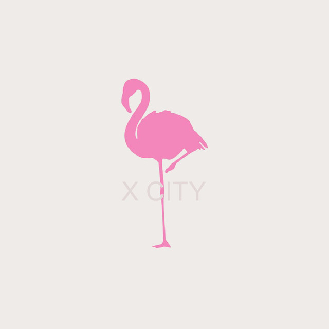 pink flamingo bird wall art sticker vinyl transfer decal window door home room stencil mural. Black Bedroom Furniture Sets. Home Design Ideas