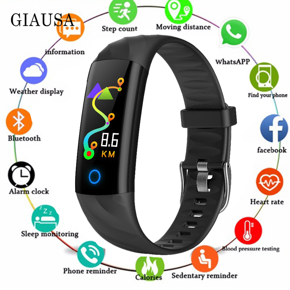 S5 Sport Smart Bracelet IP68 Waterproof Color Screen Smart Band Heart Rate Blood Pressure Pedometer Activity Tracker image