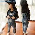 Free shipping,Girls' jeans, fashion Girls Denim Overalls High Quality Girls Overall Jeans , Baby Girls Jeans