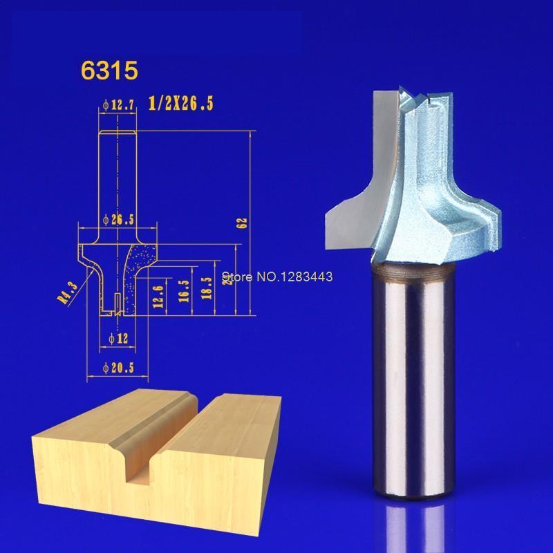 1PC 12*26.5mm Woodworking cutter cabinet door frame chamfering gear shaper milling cutter Straight Blade circular knife 6315