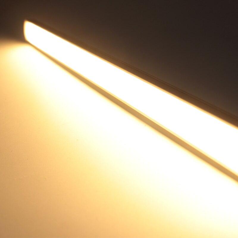 Купить с кэшбэком 50cm 10W Body infrared PIR Led motion sensor light for under kitchen cabinets lights 12V wardrobe closet bedroom