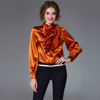 Newest 2018 Spring Summer Womens Blouses Luxury Ruffles Shirts Feminine Party Casual Top High Quality Office