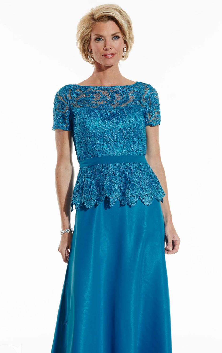 469049b30a6 Elegant Blue Lace Short Sleeve Plus Size Mother Of The Bride Dresses 2017  Summer Style Cheap Mother Pant Suits Cheap Prom Gowns-in Mother of the Bride  ...