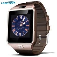 Bluetooth usable dispositivos smart watch dz09 reloj de pulsera para teléfonos android con tarjeta sim smartphone smartwatches salud