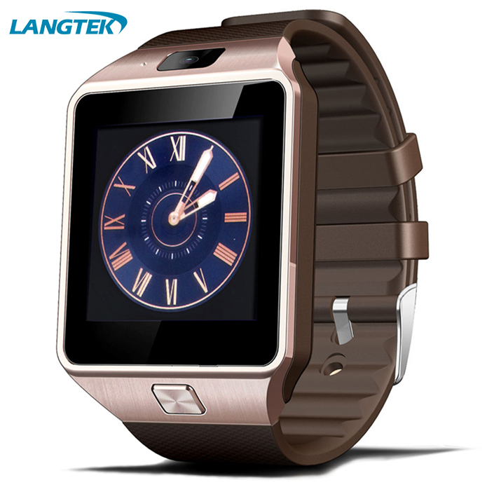 Bluetooth Wearable Devices Wristwatch Smart font b Watch b font DZ09 for Android Phone with SIM