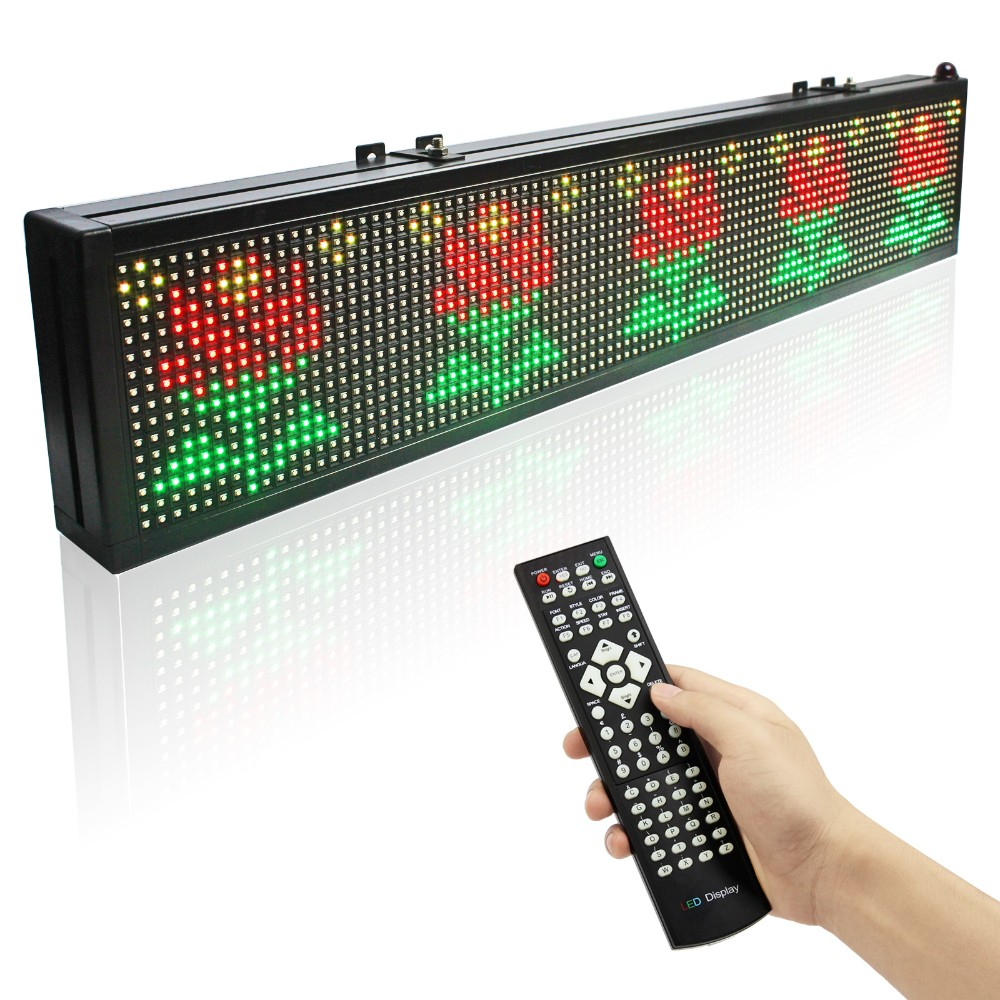 P7.62 RGB Led Display 16128 Dots Matrix Remote Control Programmable Scrolling Message Display Board Indoor Used4