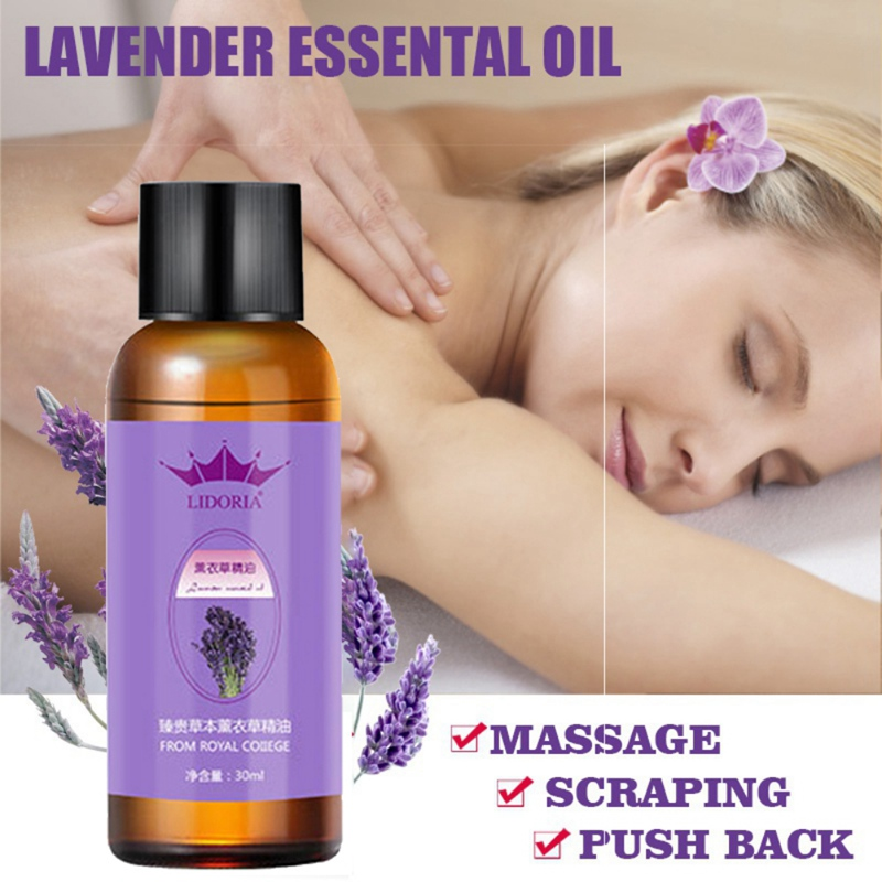 10ml-30ml Natural Plant Therapy Lymphatic Drainage Lavender Natural Anti Aging Essential Oils SPA Body Massage Oil