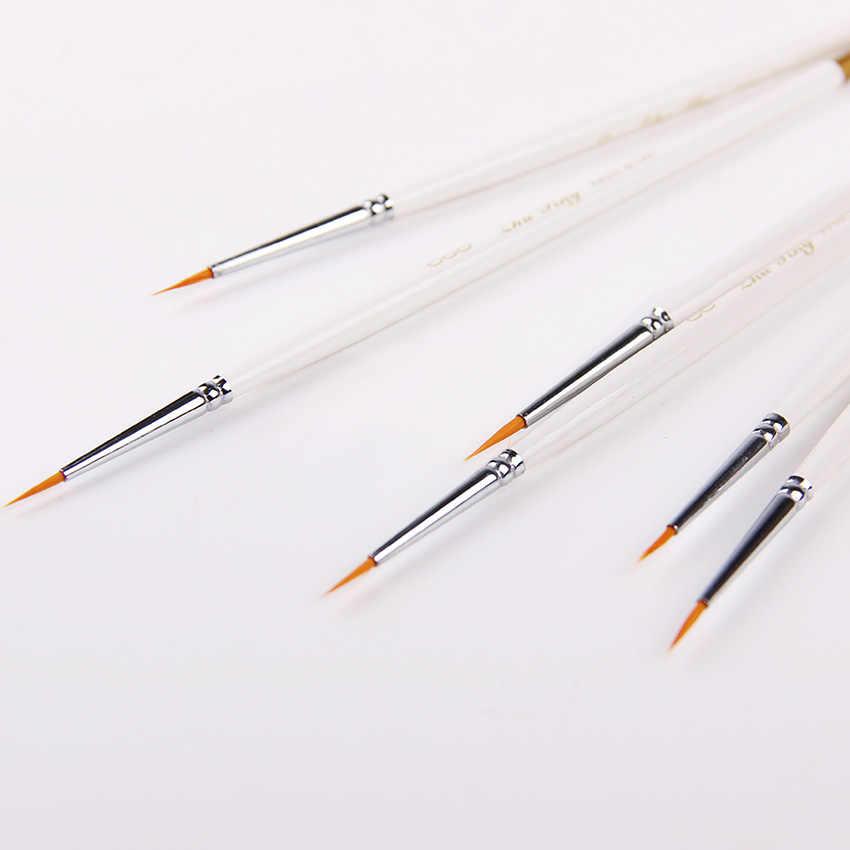 6 יח'\סט יד-צבוע דק וו קו עט ציור אמנות עט מברשת צבע אמנות אספקת ניילון מברשת ציור עט