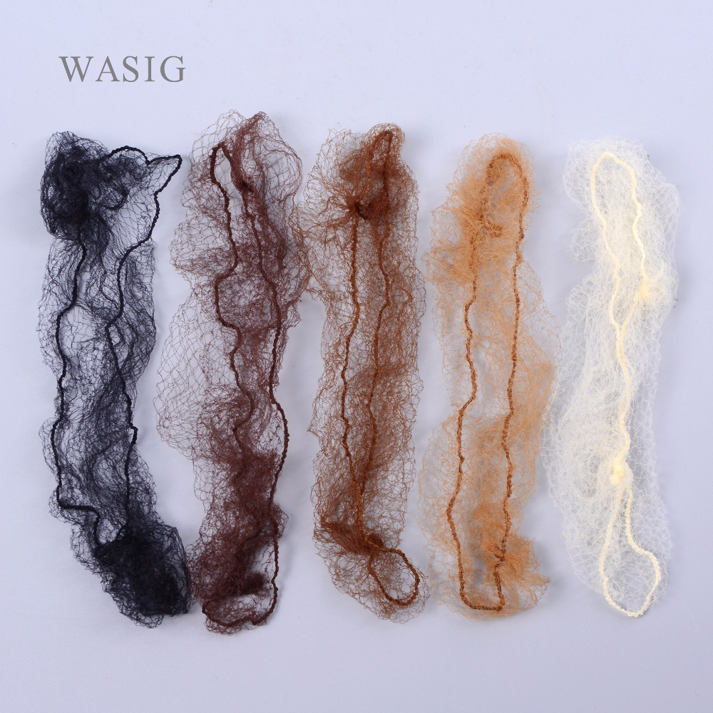 50pcs Sample Order Five Colors Nylon Hairnets Black Brown Coffee Color Invisible Soft Elastic Lines Hair Net