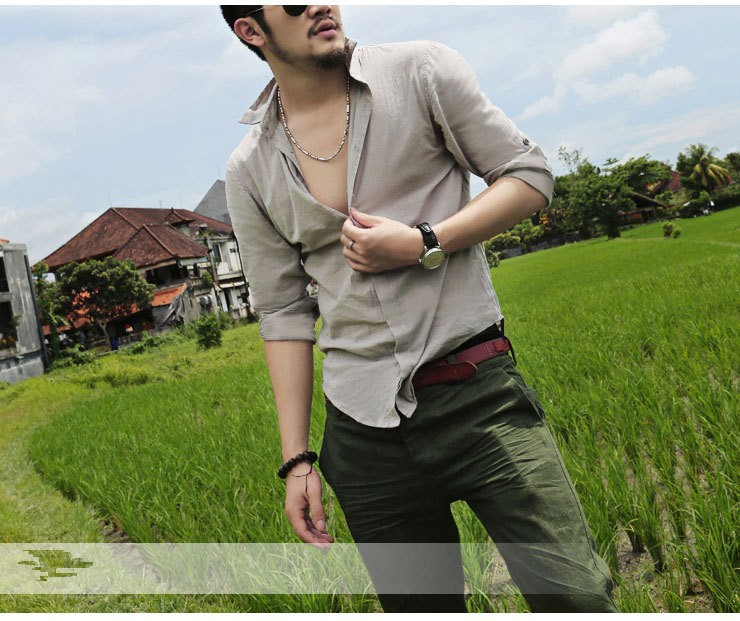 HTB1mK3XIFXXXXcTapXXq6xXFXXX3 - Shirts Swag Cotton Linen Men Shirt Long Sleeve Summer Style