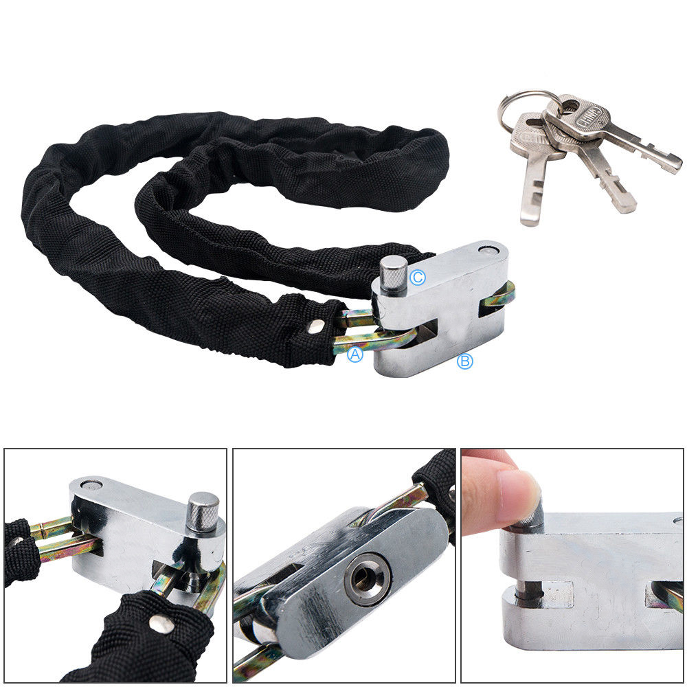 Motorbike Bicycle Safety Chain Pad Lock Mountain Road Bike Cycle