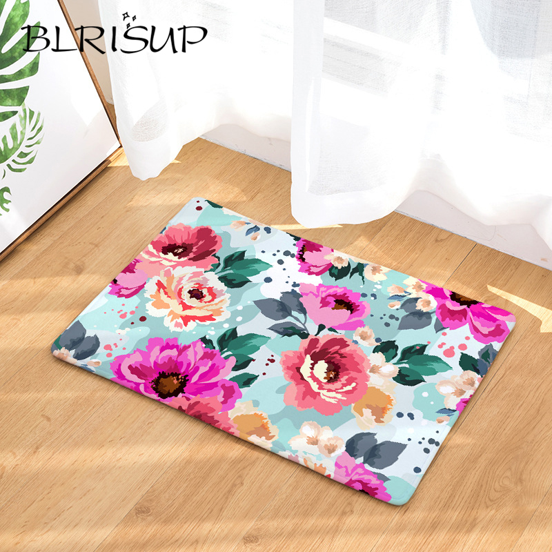 Tropical Plants Anti Slip Floor Mat