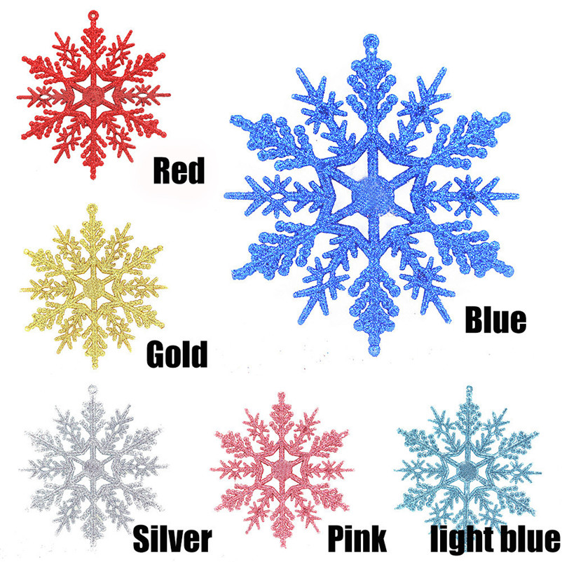 6pc Christmas Decoration Snowflakes 10cm Classic Snowflake Ornaments Christmas Tree Hanging new year Home Decor #4n14 (4)