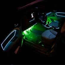 JURUS Car styling 1 meter/39 polegada lâmpadas luz interior do carro atmosfera de luz ambiente frio linha diy painel decorativo porta
