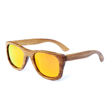 BerWer 2017 hot sell zebra wood sunglasses fashion polarized lens sunglasses