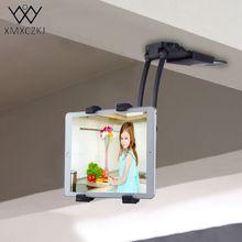 XMXCZKJ Universal Adjustable 2 in 1 Kitchen Desk Tablet Mobile Phone Mount Holder Stand For Iphone/Samsung 11-21cm Width