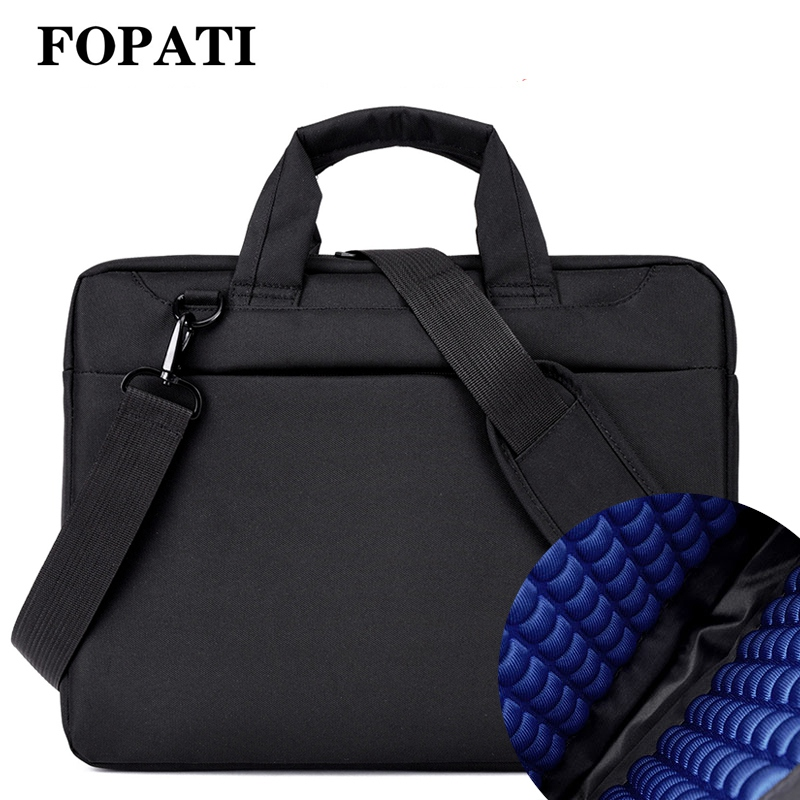 Laptop bag 17.3 17 15.6 14 12 inch Nylon airbag shoulder handbag computer bags Waterproof Messenger Women men Notebook bag 2018 title=