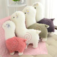 Śliczne 35 cm Cartoon Tkaniny Owce Alpaki Pluszowe Lalki Zabawki Miękkie wypchanych Zwierząt Pluszowe Lamy Yamma Prezent Urodzinowy Dla Dziecka dziecko dzieci