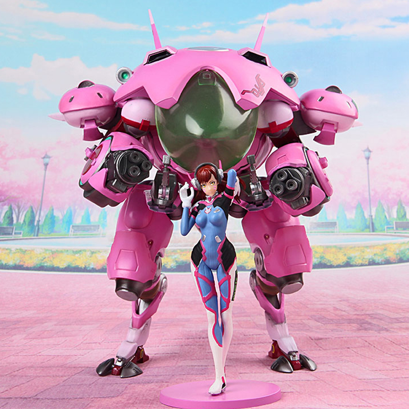 Hot Game OW Hero Hana Song 24cm size DVA D.VA with Mecha PVC Figure Collectible Model Toy NT10 цена 2017